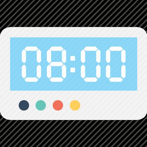 clock, digital alarm, digital clock, digital timer, timepiece icon