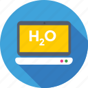 formula, h2o, laptop, online study, water formula icon