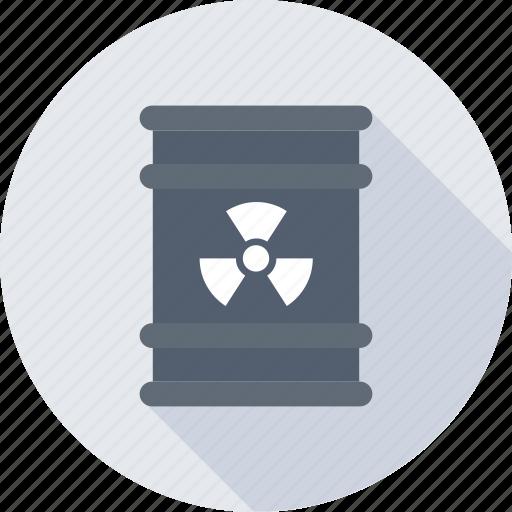 barrel, chemical barrel, nuclear, radioactivity, toxic icon