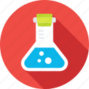 flask, laboratory, chemistry, lab, conical flask