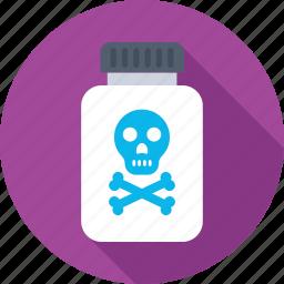 chemical, danger, dangerous, poison, warning icon