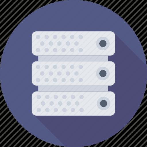 database, network, server, storage, web hosting icon