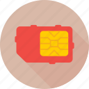 chip, microchip, phone sim, sim, sim card icon