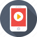 media player, mobile, mobile media, mobile video, play video icon