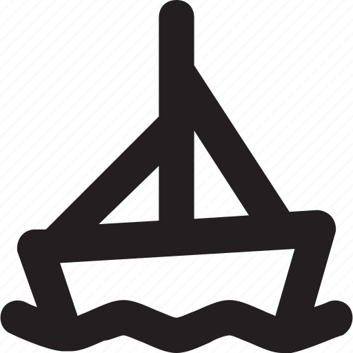 boat, sailboat, sailing vessel, transport, travel icon