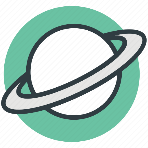 orbit, planet, saturn, solar system, universe icon
