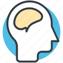brain, head, human brain, human head, think symbol icon
