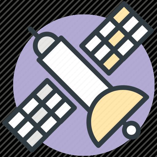 broadcasting, broadcasting satellite, modern satellite, radio control, satellite icon