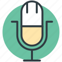 loud, mic, microphone, recording mic, vintage microphone icon