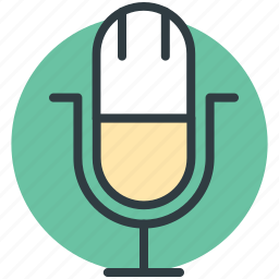 loud, mic, microphone, recording mic, vintage microphone icon