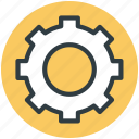 cog, cog wheel, gear, option, setting icon