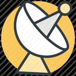 communication, dish antenna, satellite dish, space, wireless icon