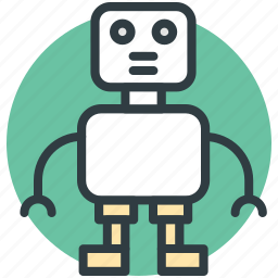 automaton, bionic robot, mechanical man, robot, robotic machine icon