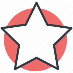 favorite, five pointed star, like, shape, winner icon