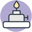 burner, lab equipment, science, search, spirit lamp icon