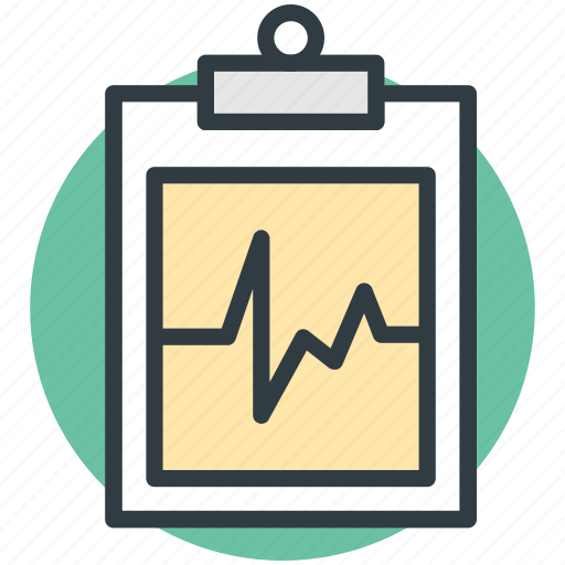 clipboard, heartbeat, medical report, pulsation, pulse rate icon