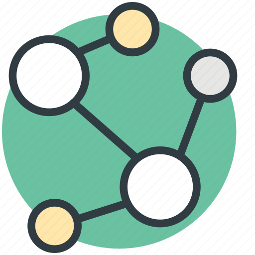 cell, connection, dna, molecule, particle icon