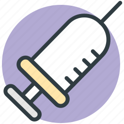 injection, intravenous, medical, syringe, vaccine icon