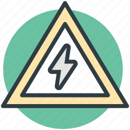 caution, risk, thunderbolt, traffic sign, voltage sign icon