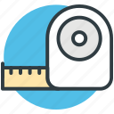 centimeter, cloth measure, measuring tape, meter measuring, tool icon