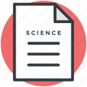 science, scientific document, scientific formulas, scientific note, scientific theories icon