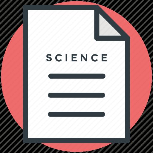 science, scientific document, scientific formulas, scientific note, scientific theories icon