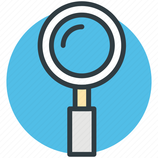lense, magnifier, magnifying glass, search, zoom icon