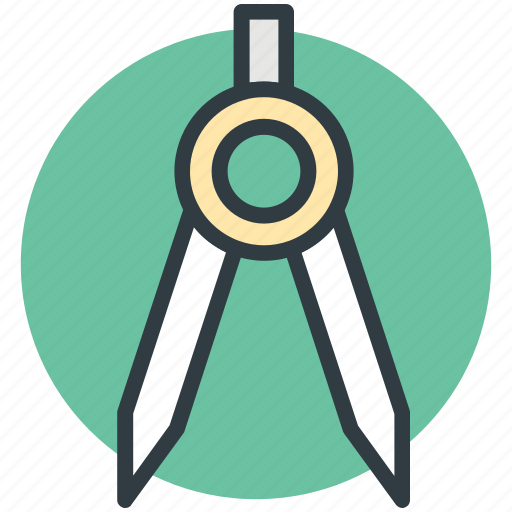 architecture compass, drawing tool, geometric, geometrical compass, sketch icon
