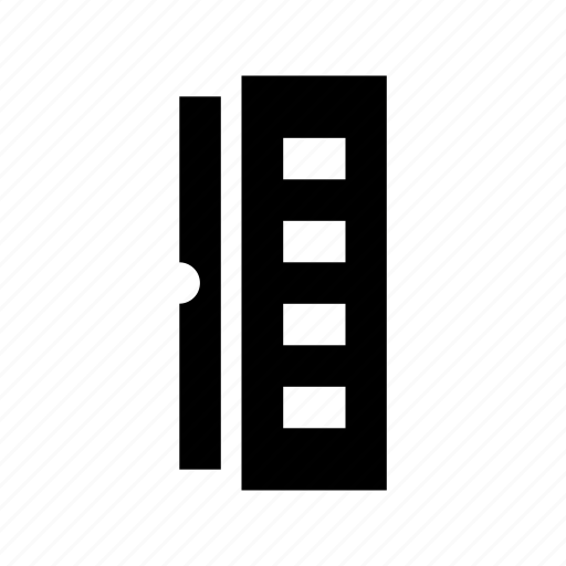 decimal ruler, geometrical, measure, ruler, scale icon