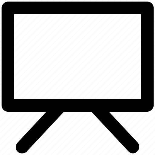 black board, easel, projection screen, whiteboard, writing board icon