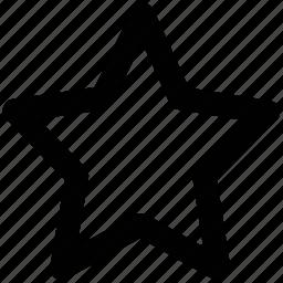 bookmark star, favourite, ranking star, star, star shape icon