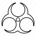 attention, biohazard, biological danger, danger, epidemy, toxic, warning icon