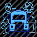 bus, children, school, students icon