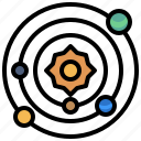 nature, planets, solar, space, sun, system icon