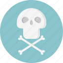 bones, danger, skeleton, warning icon