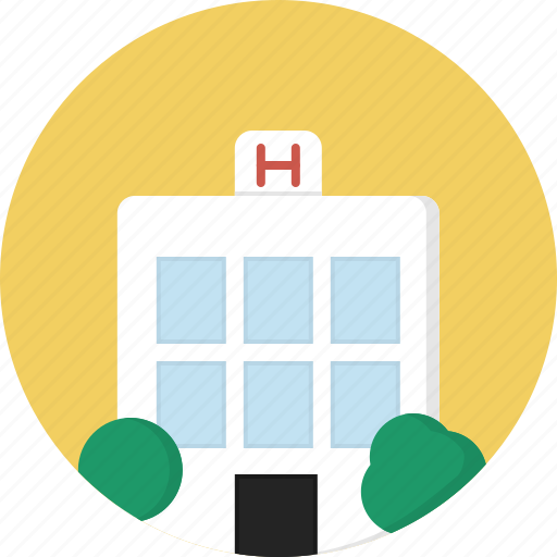 building, hospital, medical, patient icon