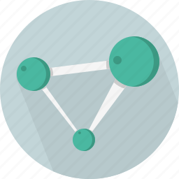 lab, medical, molecule, science icon