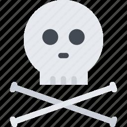 bones, danger, death, poison, science, skull icon