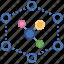 nanotechnology, communications, science, electronics, education icon