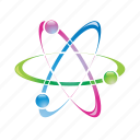 atom, chemistry, education, molecule, science icon