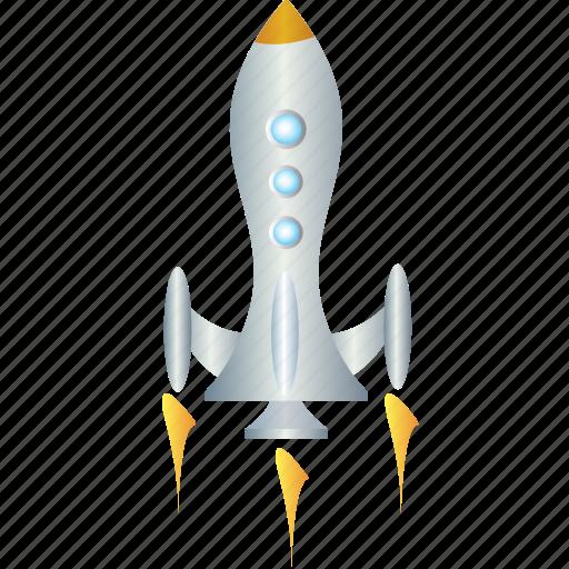 energy, power, rocket, space, spaceship icon