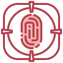 fingerprin, forensics, science, security, technology icon