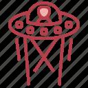 alalien, extraterrestri, transport, transportation, ufo icon