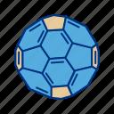 atom, ball, buckyball, fullerene, hexagon, molecule
