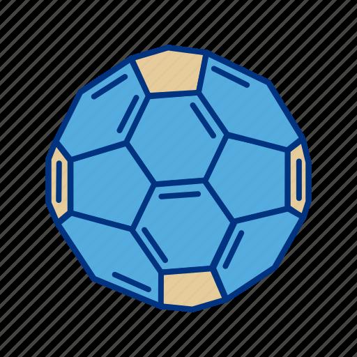 Atom, ball, buckyball, fullerene, hexagon, molecule icon - Download on Iconfinder
