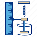 device, hook, law, measure, pressure, scale, spring icon
