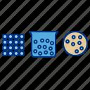 air, atom, ionized, liquid, mole, science, solid icon
