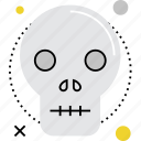 casualty, danger, death, fatal, human, skull, victim icon