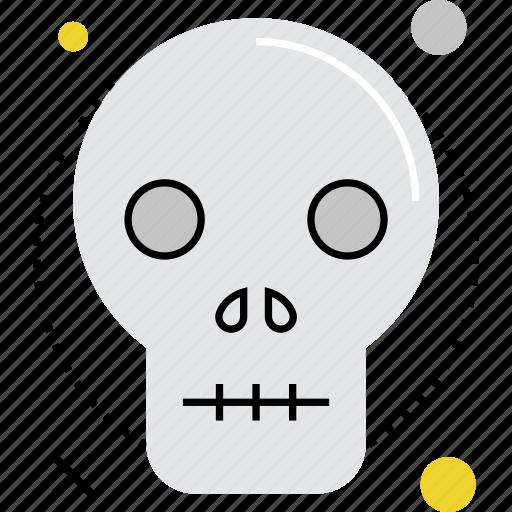 casualty, danger, death, fatal, human, skull, victim icon