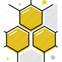 blocks, cell, cells, comb, honey, molecular, structure icon